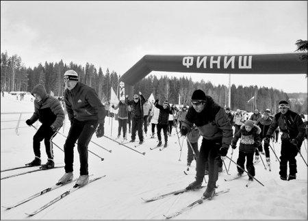 Лыжи и чай с рогаликами