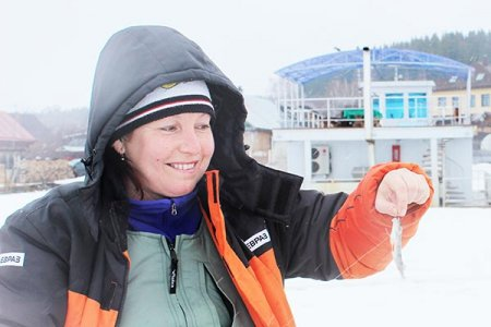 Ольга Машанова с уловом.
