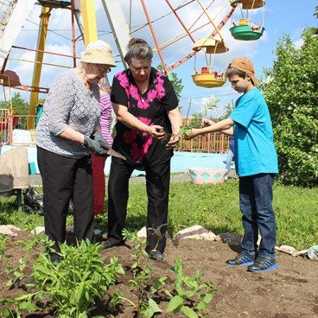 Помогли детям и работникам парка