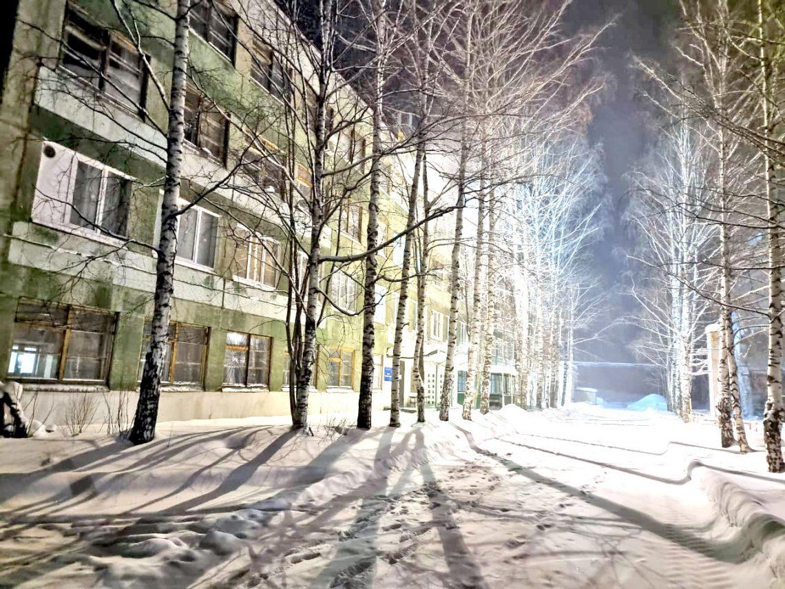 Ночью на территории «Естюнинской».