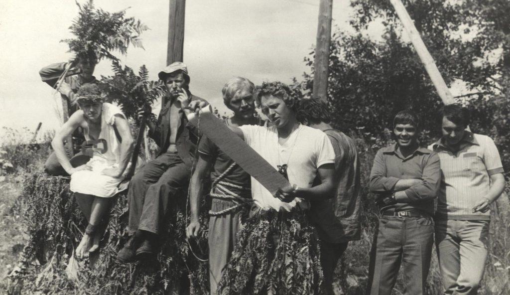 Посвящение вбойцы стройотряда, 1982год.