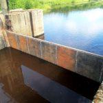 Обновленная плотина на реке Баранче.